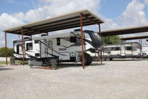 outdoor RV storage at Good Shepherd TX