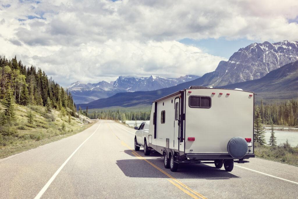 trailer on mountain road to Texas